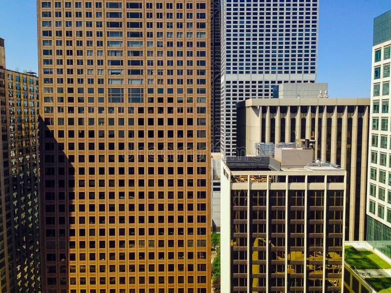 Εκλεκτής ποιότητας εικονική παράσταση πόλης οριζόντων του Σικάγου στοκ εικόνα με δικαίωμα ελεύθερης χρήσης
