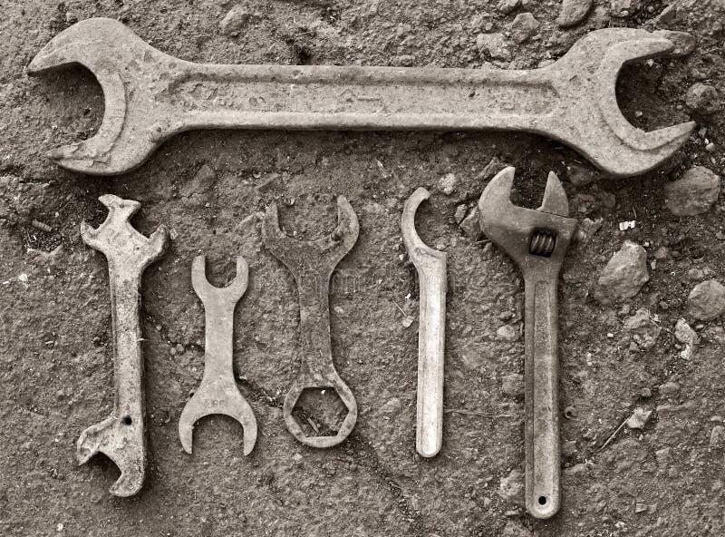Εκλεκτής ποιότητας εργαλεία υπαίθρια στοκ εικόνα