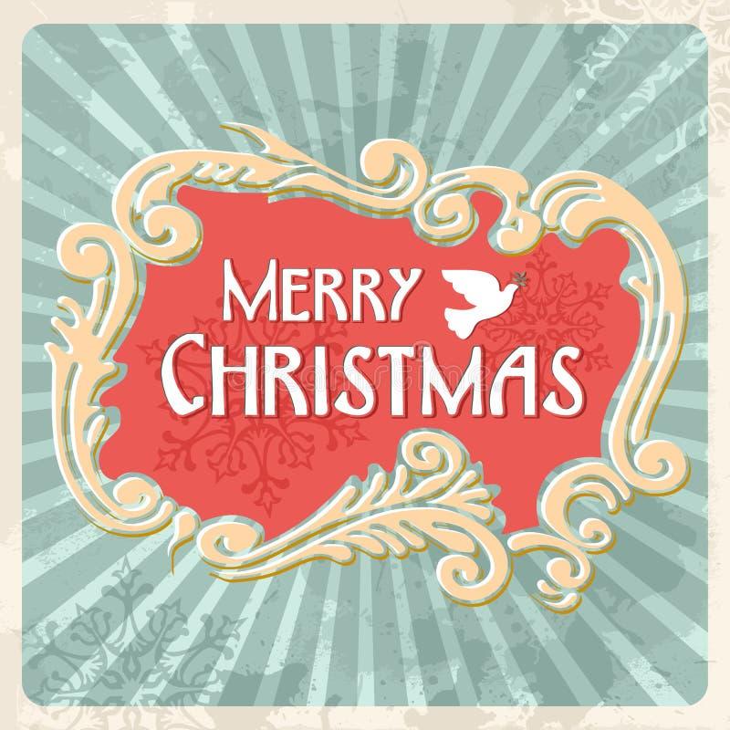 Εκλεκτής ποιότητας κάρτα σημαδιών Καλών Χριστουγέννων απεικόνιση αποθεμάτων