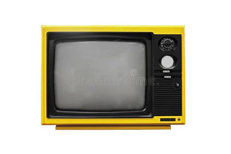 Εκλεκτής ποιότητας κίτρινη TV στοκ φωτογραφία με δικαίωμα ελεύθερης χρήσης