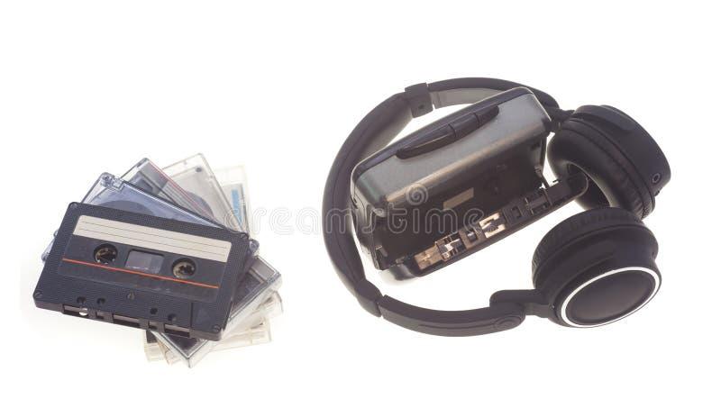 Εκλεκτής ποιότητας κασέτα ήχου και γουόκμαν στοκ εικόνα με δικαίωμα ελεύθερης χρήσης