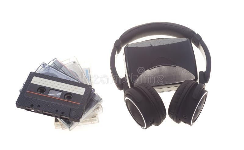 Εκλεκτής ποιότητας κασέτα ήχου και γουόκμαν στοκ φωτογραφία με δικαίωμα ελεύθερης χρήσης