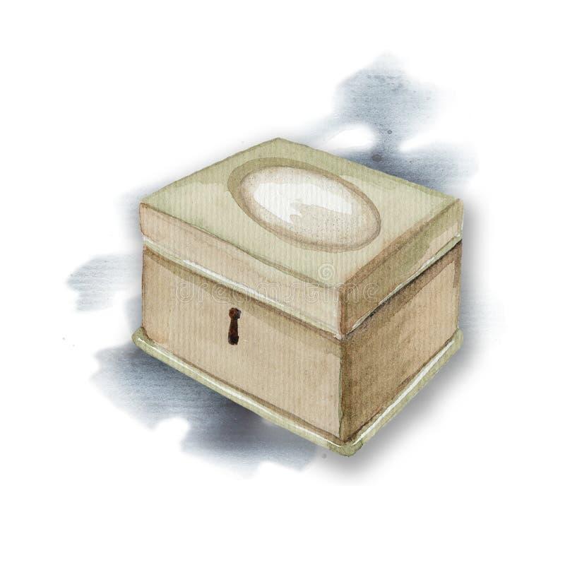Εκλεκτής ποιότητας κασετίνα Watercolor απεικόνιση αποθεμάτων
