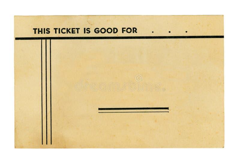 εκλεκτής ποιότητας λευκό εισιτηρίων στοκ εικόνες