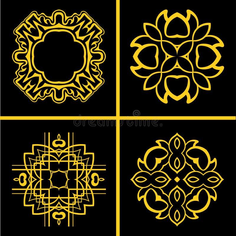 Εκλεκτής ποιότητας λογότυπα καθορισμένα ελεύθερη απεικόνιση δικαιώματος