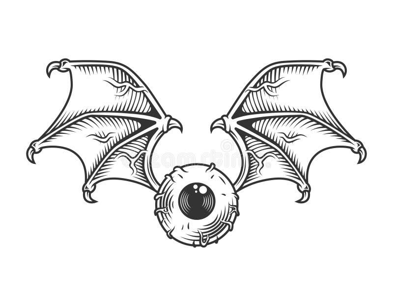 Εκλεκτής ποιότητας μάτι με την έννοια φτερών ελεύθερη απεικόνιση δικαιώματος