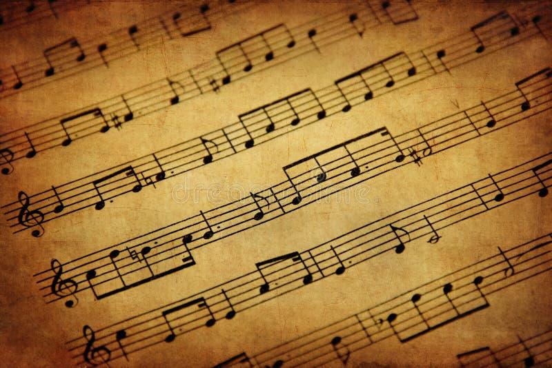 Εκλεκτής ποιότητας μουσική φύλλων στοκ εικόνες