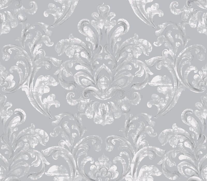 Εκλεκτής ποιότητας μπαρόκ διακοσμημένο διάνυσμα υποβάθρου Βασιλική σύσταση πολυτέλειας Κομψό σχέδιο ντεκόρ στο παλαιό ύφος grunge απεικόνιση αποθεμάτων