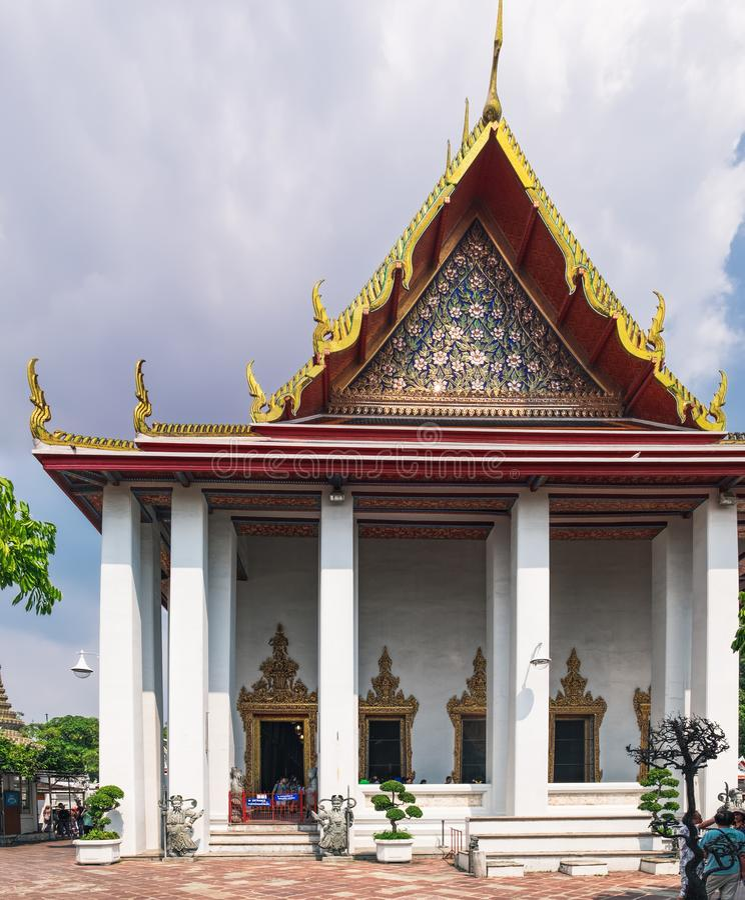 Εκλεκτής ποιότητας νωπογραφία του ναού Wat Pho με τη ζωή του Βούδα, Μπανγκόκ, Ταϊλάνδη στοκ φωτογραφίες με δικαίωμα ελεύθερης χρήσης