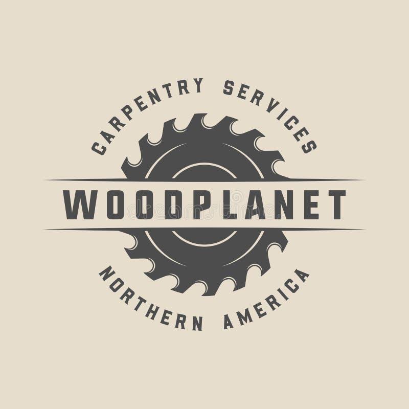 Εκλεκτής ποιότητας ξυλουργική, ξυλουργική και μηχανική ετικέτα, διακριτικό, έμβλημα απεικόνιση αποθεμάτων