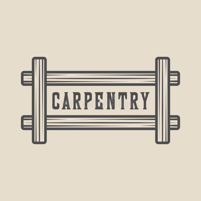 Εκλεκτής ποιότητας ξυλουργική, ξυλουργική και μηχανική ετικέτα, διακριτικό, έμβλημα και λογότυπο r απεικόνιση αποθεμάτων