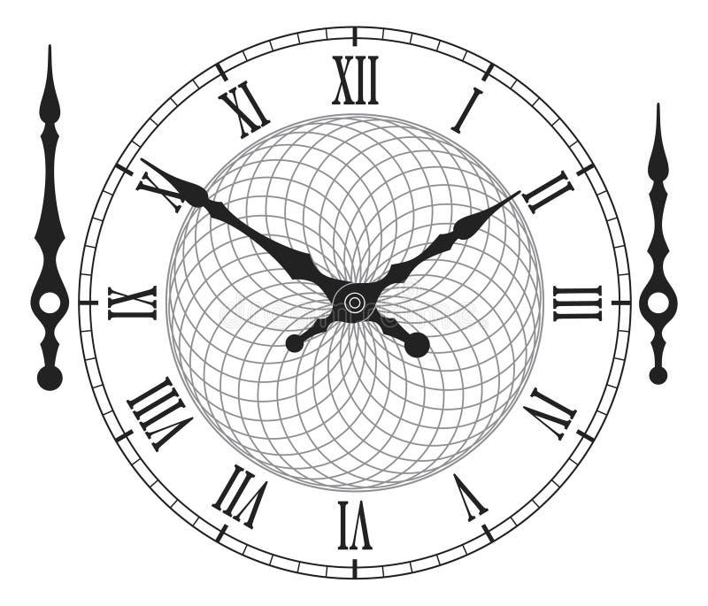 Εκλεκτής ποιότητας πίνακας ρολογιών με τα βέλη επίσης corel σύρετε το διάνυσμα απεικόνισης απεικόνιση αποθεμάτων