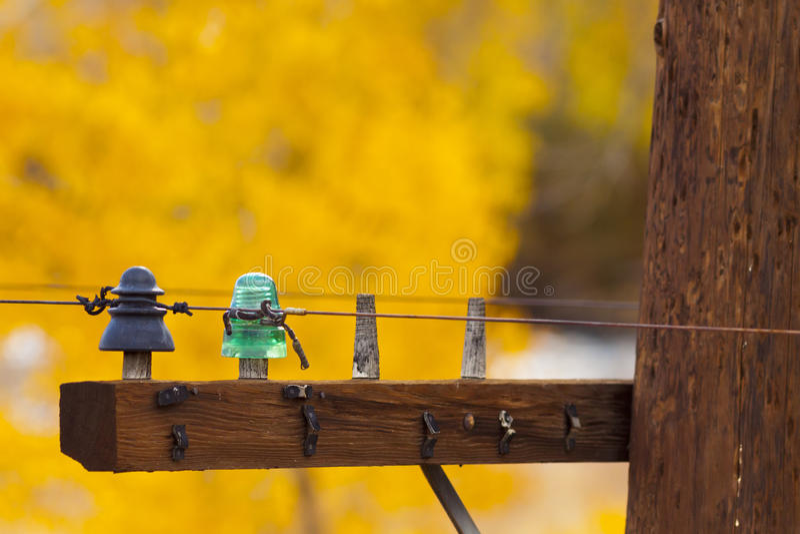 Εκλεκτής ποιότητας πράσινος μονωτής στοκ φωτογραφία