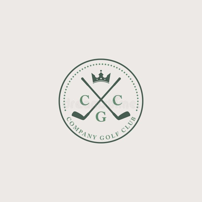 Εκλεκτής ποιότητας πράσινο και γκρίζο λογότυπο για το γκολφ κλαμπ ή άλλη αθλητική λέσχη στοκ φωτογραφία με δικαίωμα ελεύθερης χρήσης