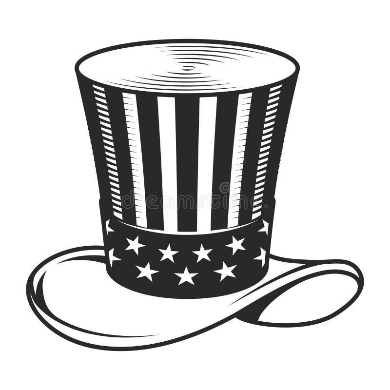 Εκλεκτής ποιότητας πρότυπο καπέλων θείων Σαμ ελεύθερη απεικόνιση δικαιώματος