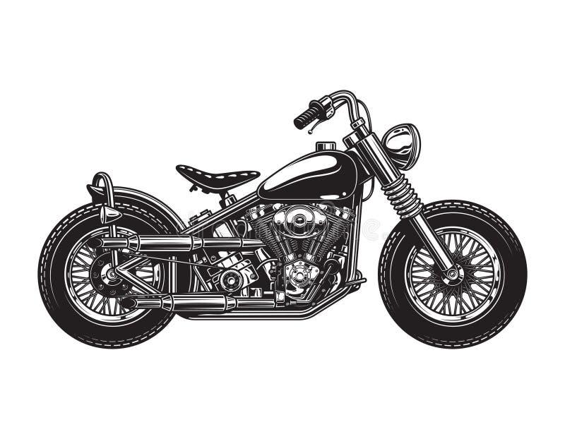 Εκλεκτής ποιότητας πρότυπο πλάγιας όψης μοτοσικλετών μπαλτάδων ελεύθερη απεικόνιση δικαιώματος