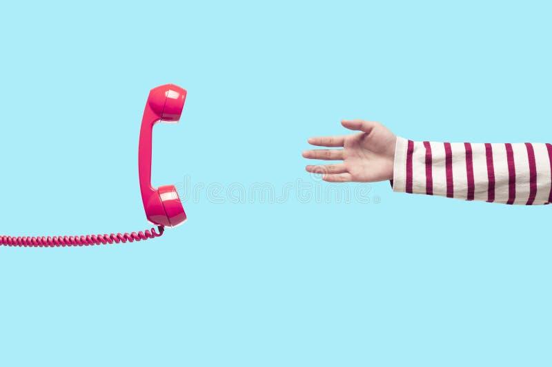 Εκλεκτής ποιότητας ρόδινο τηλέφωνο στοκ εικόνα με δικαίωμα ελεύθερης χρήσης