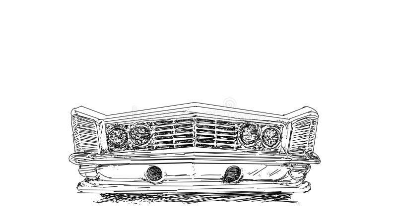 Εκλεκτής ποιότητας σειρά αυτοκινήτων με την παλαιά βάση, έμβλημα διανυσματική απεικόνιση