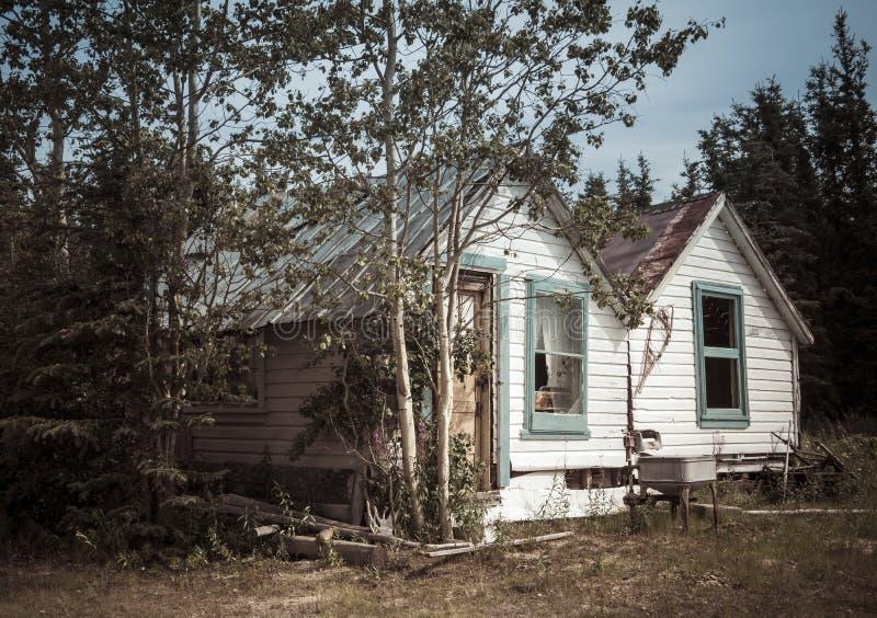 Εκλεκτής ποιότητας σπίτι Yukon στοκ εικόνες