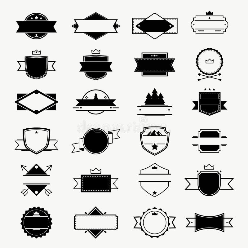 Εκλεκτής ποιότητας συλλογή σχεδίου διακριτικών, ετικετών, γραμματοσήμων και πλαισίων διανυσματική απεικόνιση