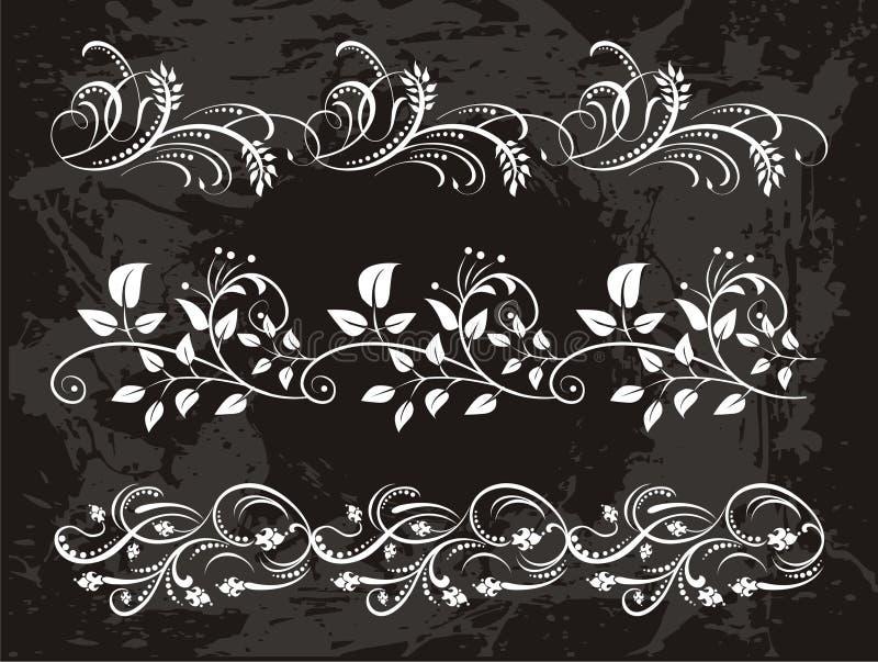 Εκλεκτής ποιότητας σύνολο κομψών συνόρων λουλουδιών απεικόνιση αποθεμάτων