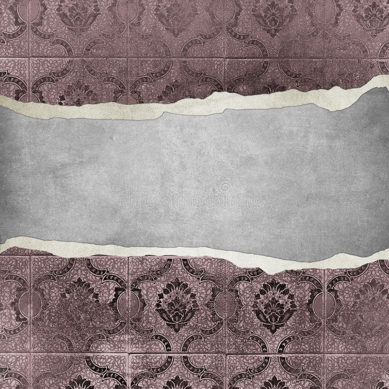 Εκλεκτής ποιότητας ταπετσαρία Grunge - trorn bannner απεικόνιση αποθεμάτων