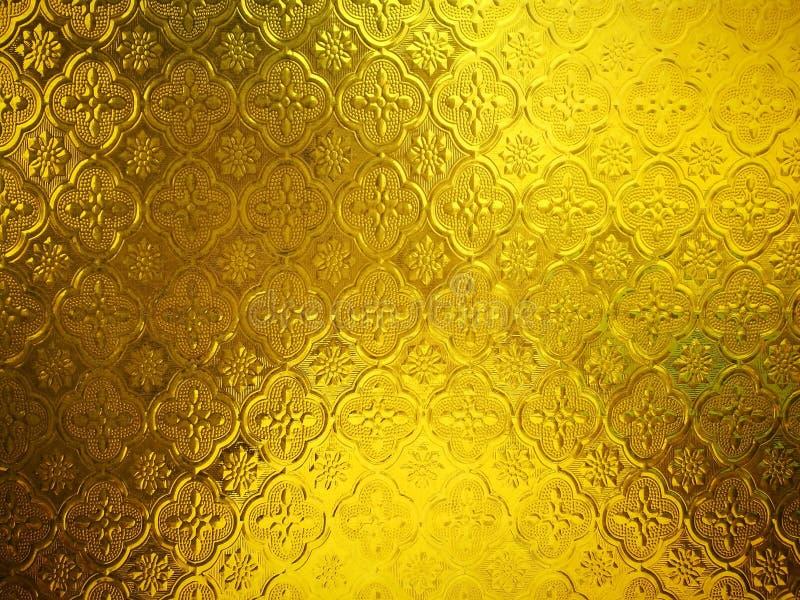 Εκλεκτής ποιότητας ταϊλανδικό ύφος του λεκιασμένου σχεδίου υποβάθρου γυαλιού στοκ φωτογραφία με δικαίωμα ελεύθερης χρήσης