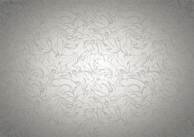 Εκλεκτής ποιότητας υπόβαθρο με τα floral στοιχεία στο γοτθικό ύφος ελεύθερη απεικόνιση δικαιώματος