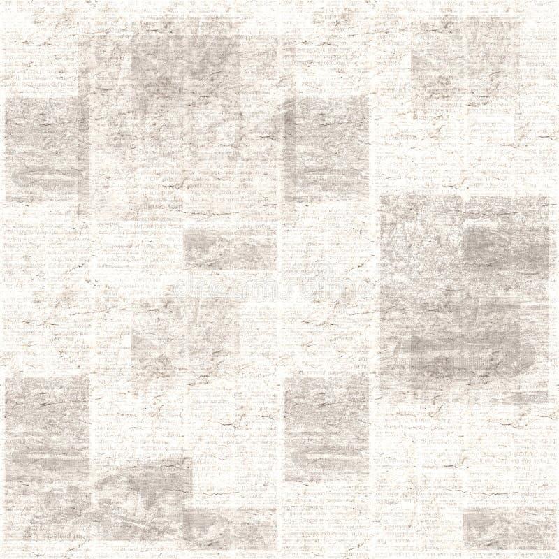 Εκλεκτής ποιότητας υπόβαθρο σύστασης κολάζ εφημερίδων grunge στοκ εικόνες