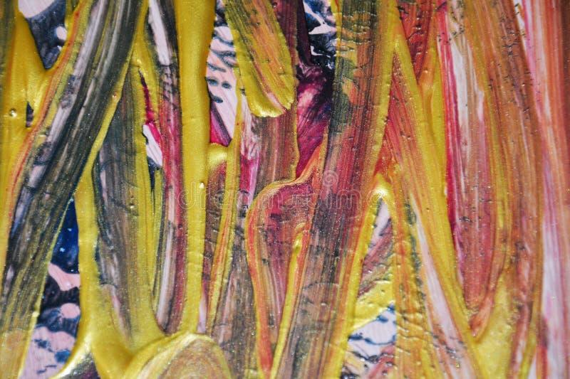 Εκλεκτής ποιότητας υπόβαθρο χρωμάτων στα χρυσά μπλε πορτοκαλιά χρώματα Αφηρημένο υπόβαθρο watercolor χρωμάτων στοκ εικόνα με δικαίωμα ελεύθερης χρήσης
