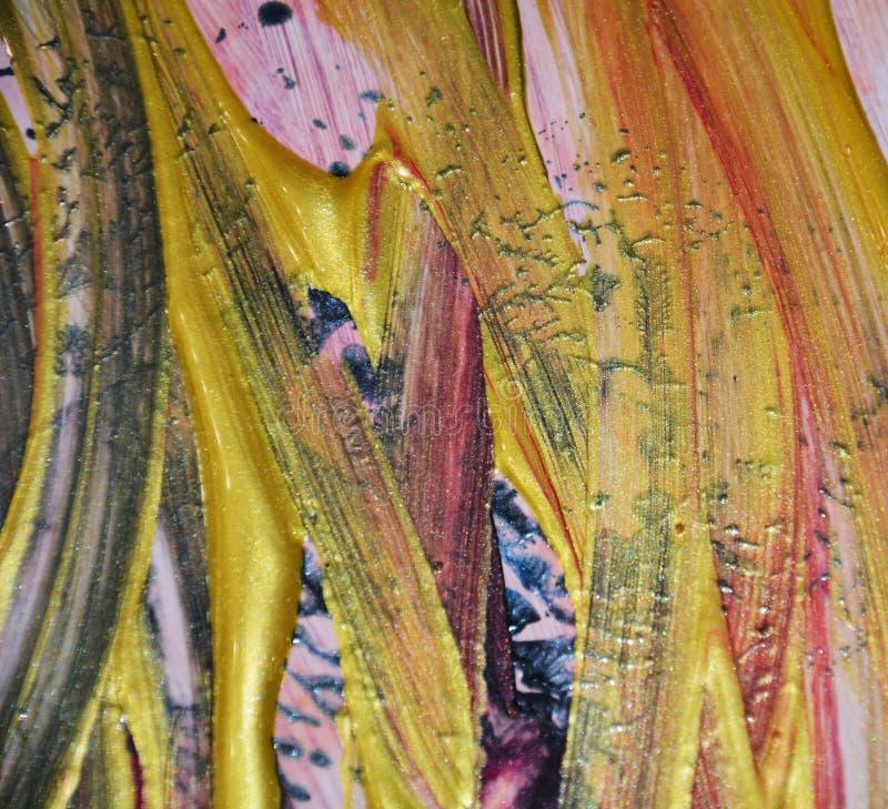 Εκλεκτής ποιότητας υπόβαθρο χρωμάτων στα χρυσά πορτοκαλιά χρώματα Αφηρημένο υπόβαθρο watercolor χρωμάτων στοκ φωτογραφία