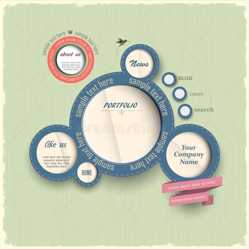 Εκλεκτής ποιότητας φυσαλίδες σχεδίου Ιστού διανυσματική απεικόνιση