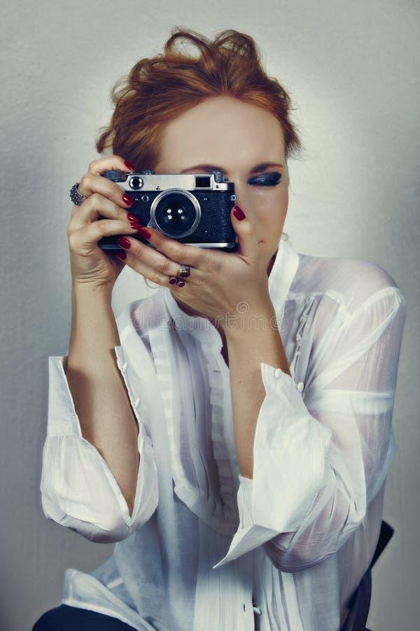 Εκλεκτής ποιότητας φωτογράφος στοκ εικόνα με δικαίωμα ελεύθερης χρήσης