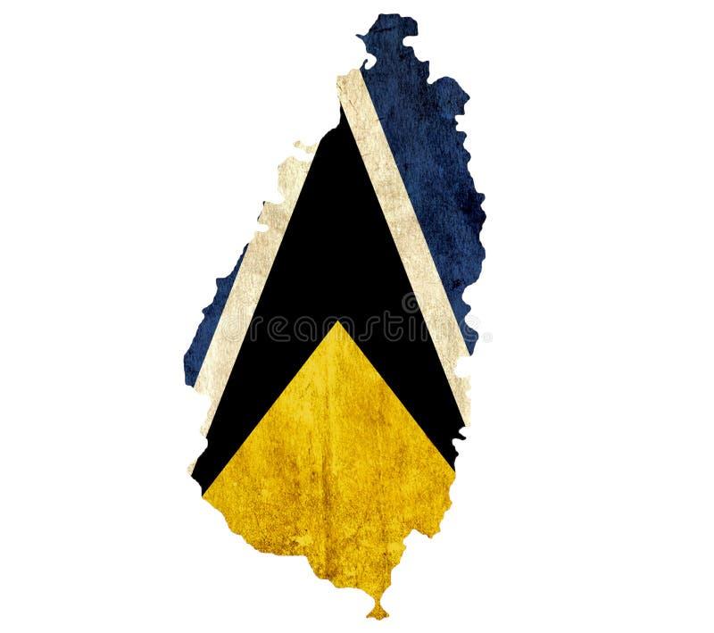 Εκλεκτής ποιότητας χάρτης εγγράφου της Αγίας Λουκία ελεύθερη απεικόνιση δικαιώματος