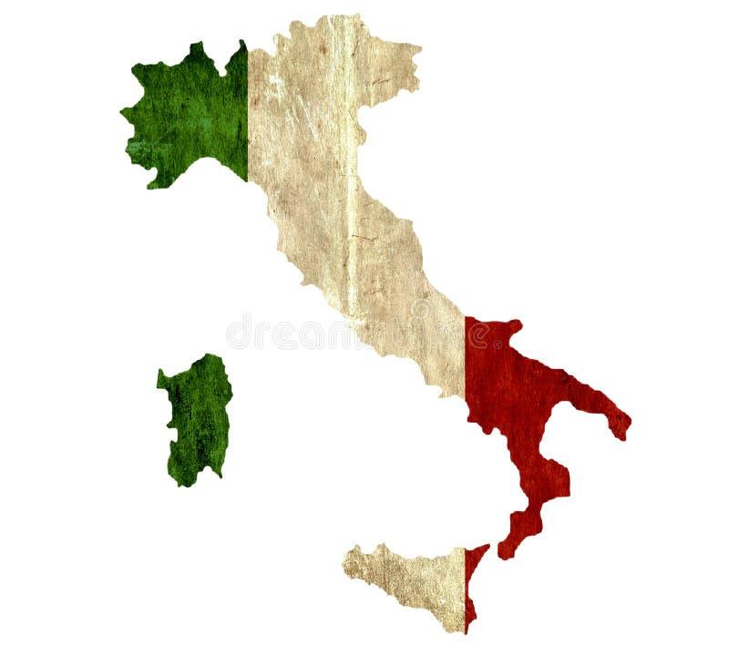 Εκλεκτής ποιότητας χάρτης εγγράφου της Ιταλίας απεικόνιση αποθεμάτων