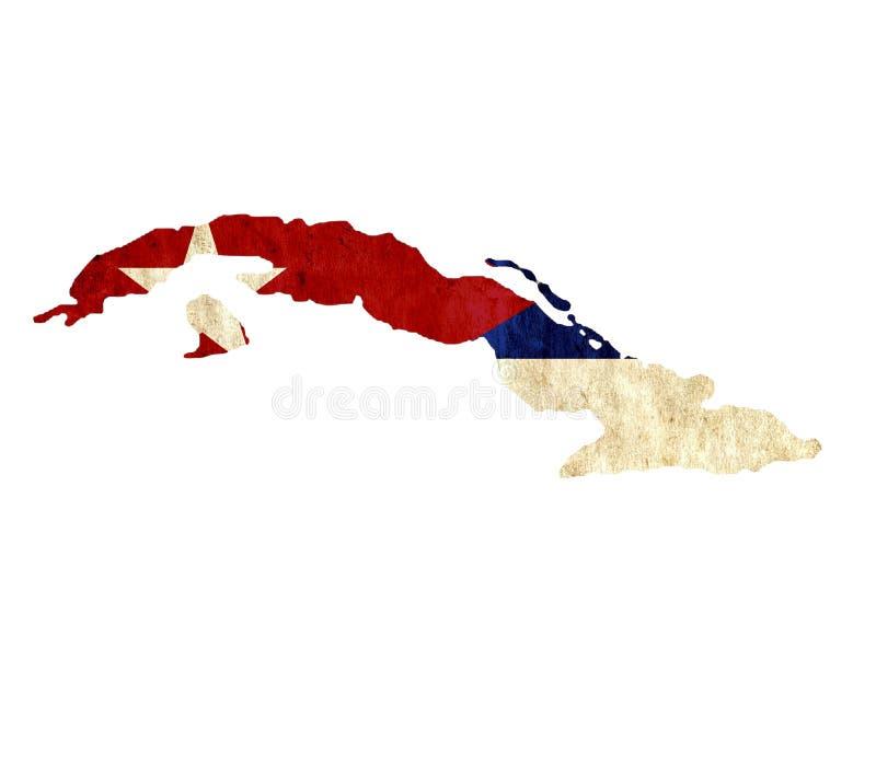 Εκλεκτής ποιότητας χάρτης εγγράφου της Κούβας ελεύθερη απεικόνιση δικαιώματος