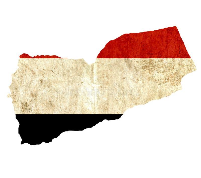 Εκλεκτής ποιότητας χάρτης εγγράφου της Υεμένης διανυσματική απεικόνιση