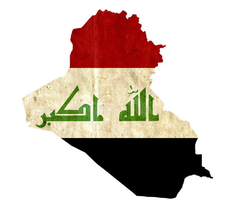 Εκλεκτής ποιότητας χάρτης εγγράφου του Ιράκ απεικόνιση αποθεμάτων