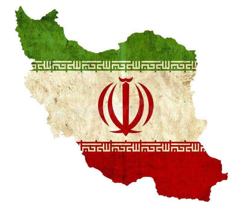 Εκλεκτής ποιότητας χάρτης εγγράφου του Ιράν ελεύθερη απεικόνιση δικαιώματος