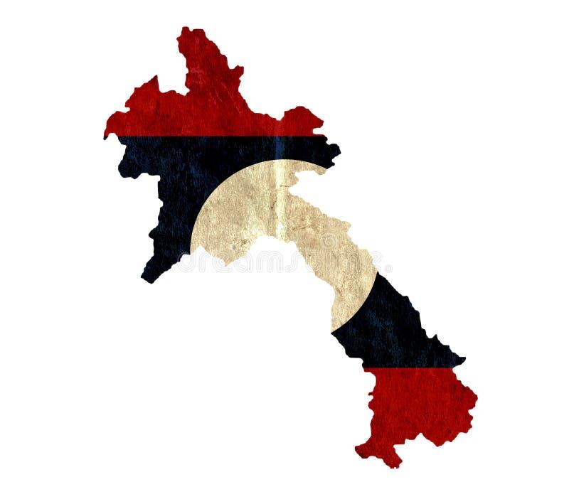 Εκλεκτής ποιότητας χάρτης εγγράφου του Λάος διανυσματική απεικόνιση