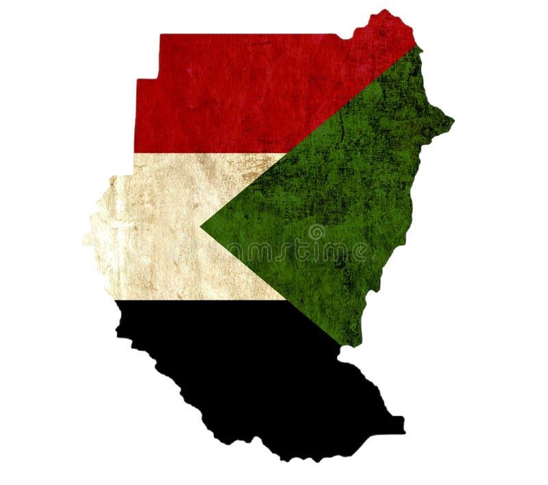 Εκλεκτής ποιότητας χάρτης εγγράφου του Σουδάν διανυσματική απεικόνιση