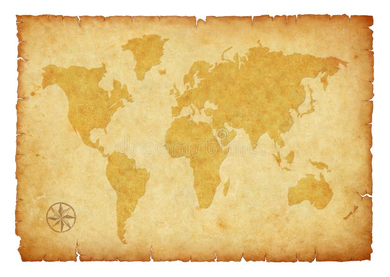 Εκλεκτής ποιότητας χάρτης στην παλαιά απεικόνιση εγγράφου διανυσματική απεικόνιση