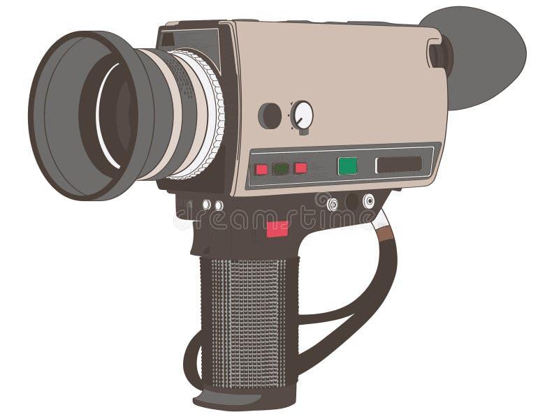 Εκλεκτής ποιότητας χέρι καμερών ταινιών που σύρεται, διάνυσμα, Eps, λογότυπο, εικονίδιο, απεικόνιση σκιαγραφιών από τα crafteroks διανυσματική απεικόνιση