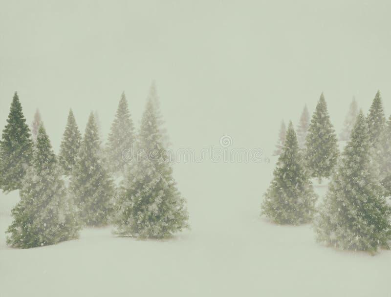 Εκλεκτής ποιότητας χειμερινό τοπίο στοκ φωτογραφία με δικαίωμα ελεύθερης χρήσης