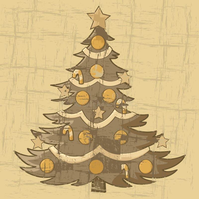 Εκλεκτής ποιότητας χριστουγεννιάτικο δέντρο διανυσματική απεικόνιση