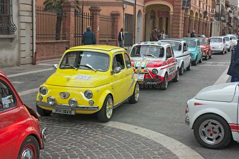 Εκλεκτής ποιότητας Fiat 500 στοκ εικόνες