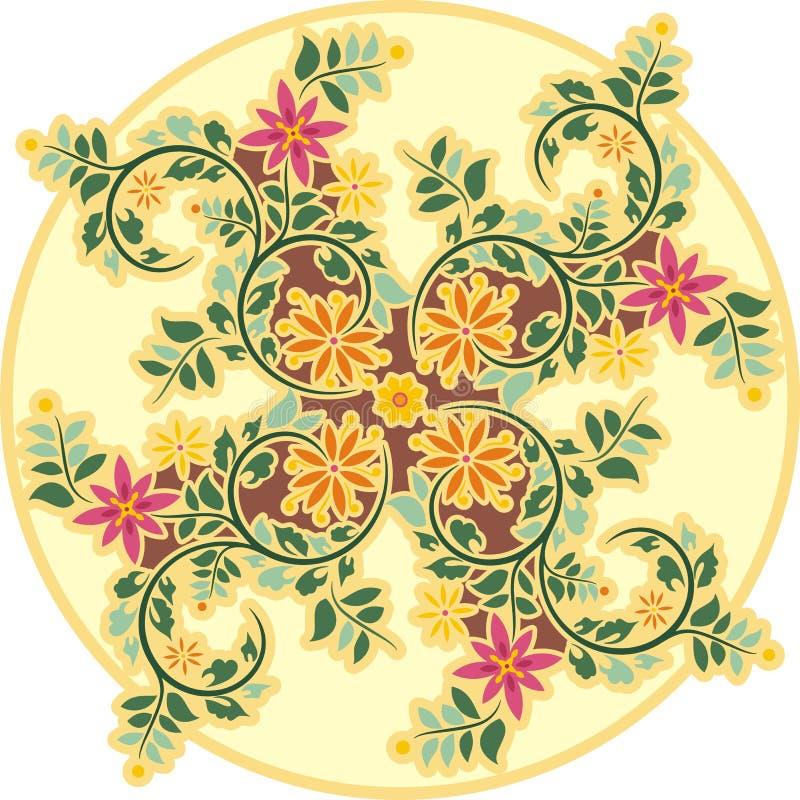 Εκλεκτής ποιότητας Floral διακόσμηση κύκλων διανυσματική απεικόνιση