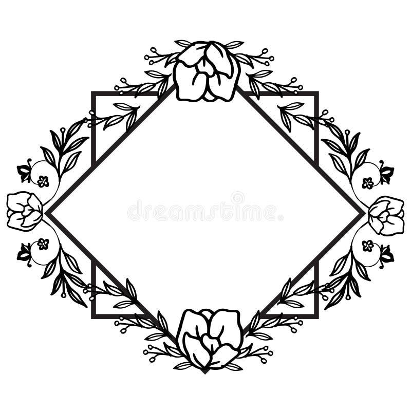 Εκλεκτής ποιότητας floral πλαίσιο, με το αναδρομικό γραφικό ύφος, για το πρότυπο r απεικόνιση αποθεμάτων