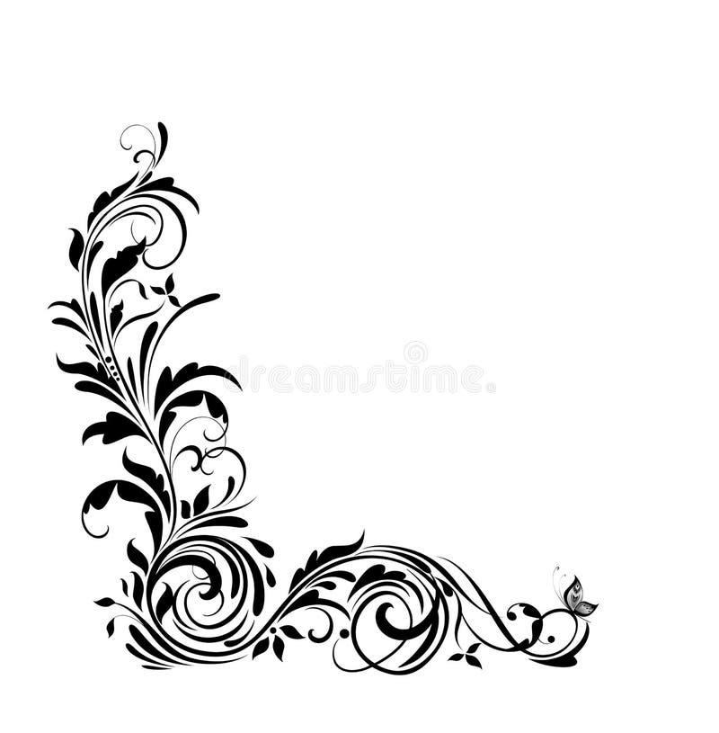 Εκλεκτής ποιότητας floral σύνορα για το γαμήλιο σχέδιο, ετικέτες μόδας, ευχετήρια κάρτα, εστιατόριο, καφές, ξενοδοχείο, κατάστημα στοκ εικόνα
