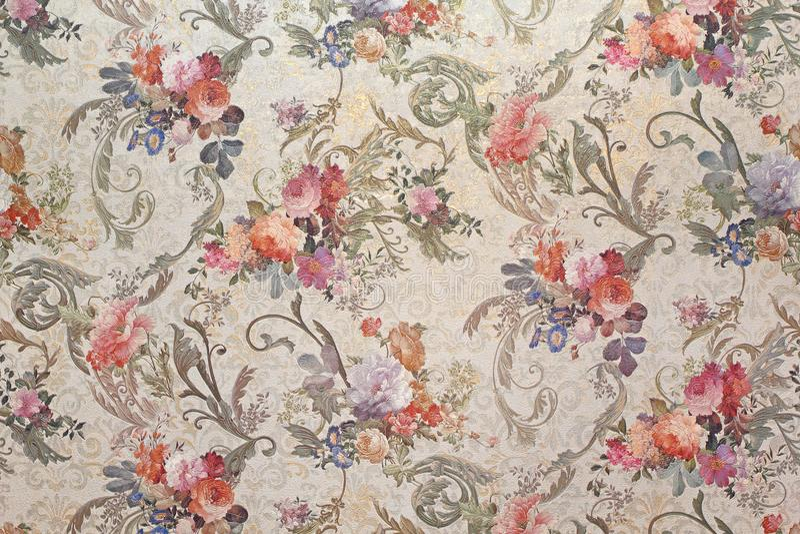 Εκλεκτής ποιότητας floral ταπετσαρία στοκ εικόνα με δικαίωμα ελεύθερης χρήσης